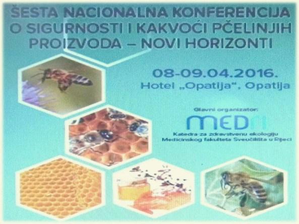 šesta nacionalna konferencija o kakvoći  meda
