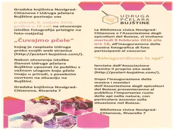 pozivnica na foto izložbu Čuvajmo pčele